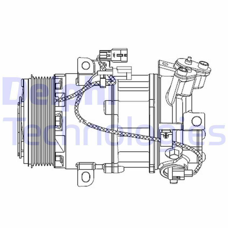 Original RENAULT Klimakompressor CS20550