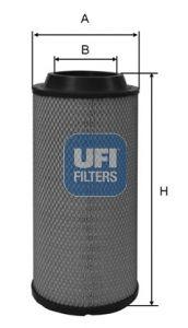 UFI Air Filter 27.B32.00 for MITSUBISHI: buy online