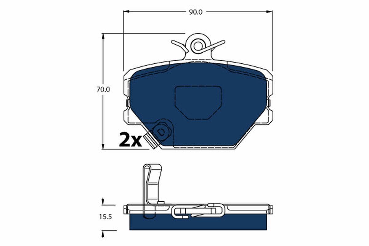 Original SMART Bremsbelagsatz GDB1365BTE