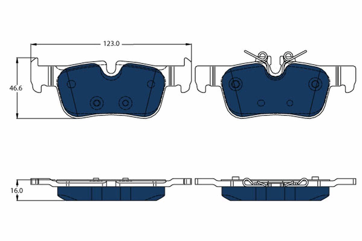Bremsbeläge TRW GDB2063BTE
