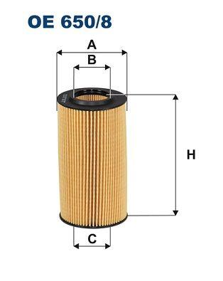 Motorölfilter FILTRON OE 650/8