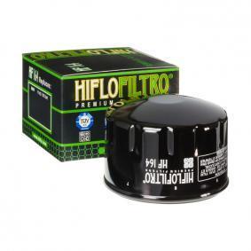 Купете мото HifloFiltro навиващ филтър Ø: 76мм, височина: 54мм Маслен филтър HF164 евтино