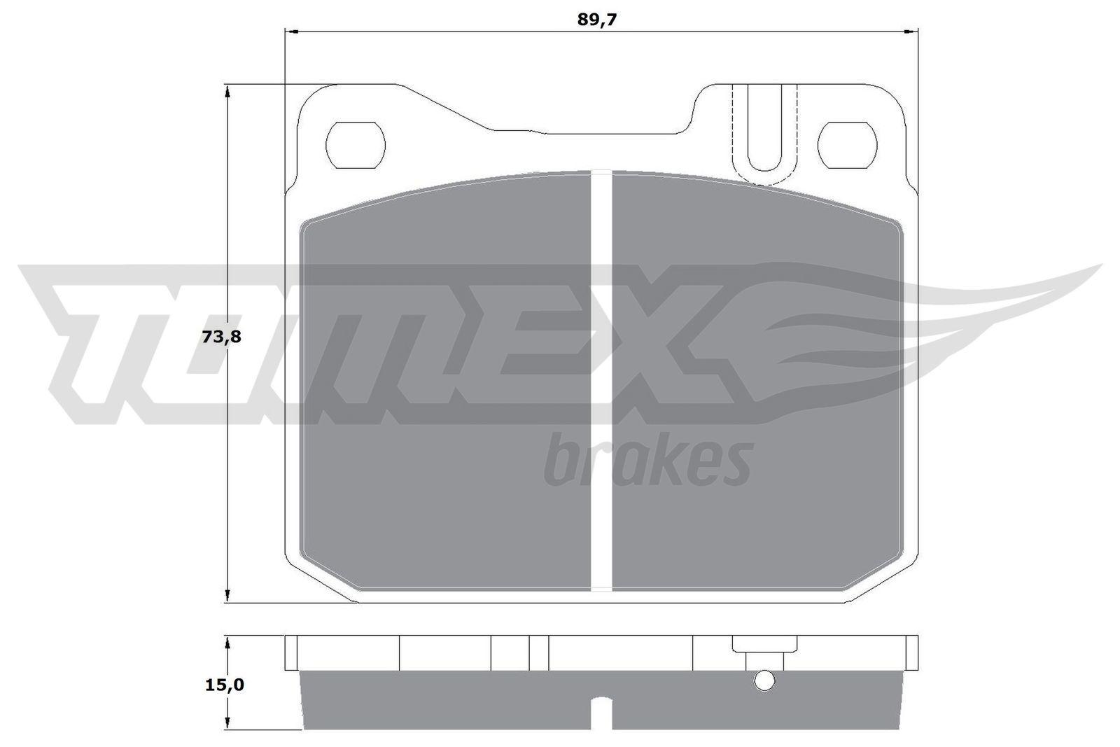 OE Original Bremsklötze TX 10-22 TOMEX brakes