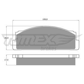 TX 10-23 Bromsbeläggssats, skivbroms TOMEX brakes - Billiga märkesvaror