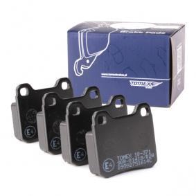 20687 TOMEX brakes Bakaxel H: 54,3mm, Tjocklek: 15,5mm Bromsbeläggssats, skivbroms TX 10-371 köp lågt pris