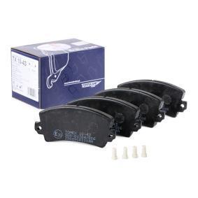 20141 TOMEX brakes Vorderachse, mit Zubehör Höhe: 49,6mm, Dicke/Stärke: 14mm Bremsbelagsatz, Scheibenbremse TX 10-43 günstig kaufen