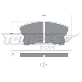 TX 10-43 Bremsbelagsatz, Scheibenbremse TOMEX brakes in Original Qualität