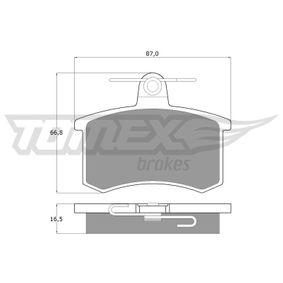 TX10-62 Bromsbeläggssats, skivbroms TOMEX brakes - Upplev rabatterade priser