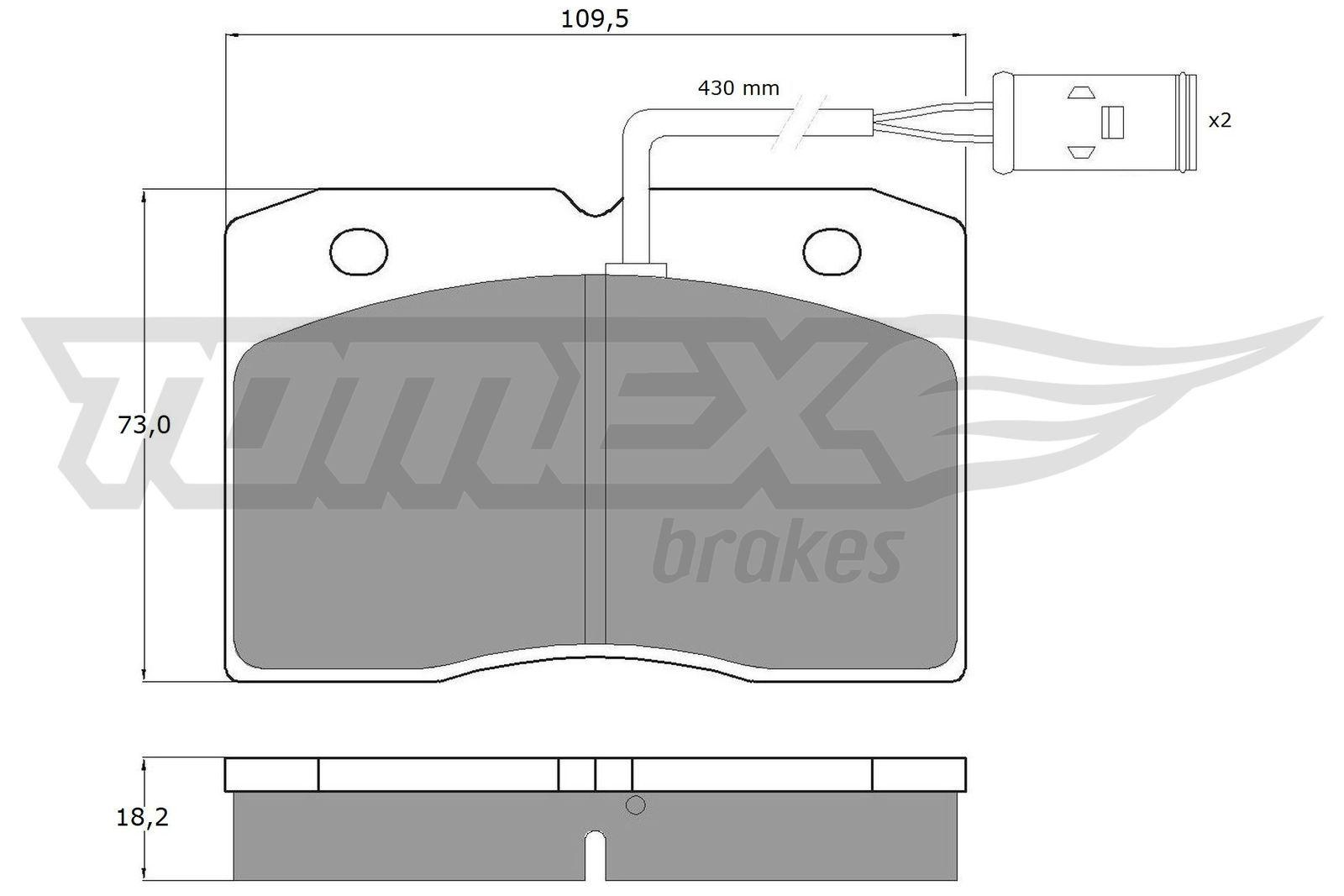 Original IVECO Bremsbelagsatz Scheibenbremse TX 11-40