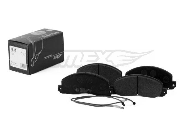 OPEL ARENA 1997 Bremsbelagsatz Scheibenbremse - Original TOMEX brakes TX 11-65 Höhe: 56,6mm, Breite: 155,7mm, Dicke/Stärke: 18,5mm