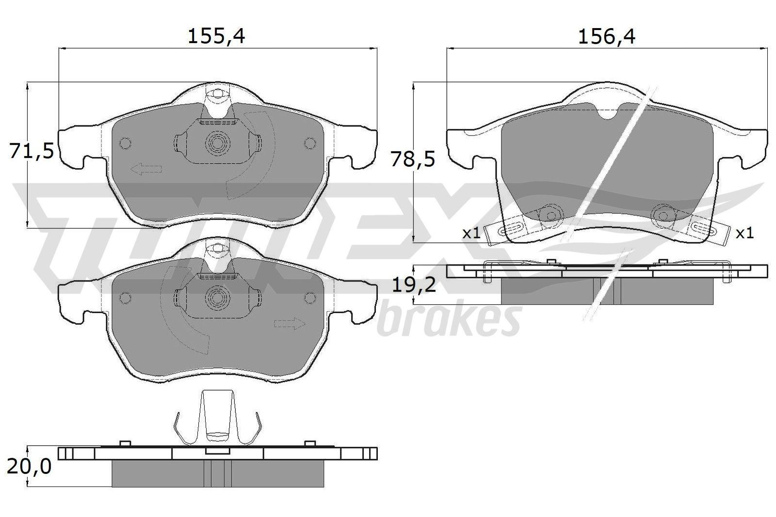 Bremsbelagsatz Scheibenbremse TOMEX brakes TX 12-22