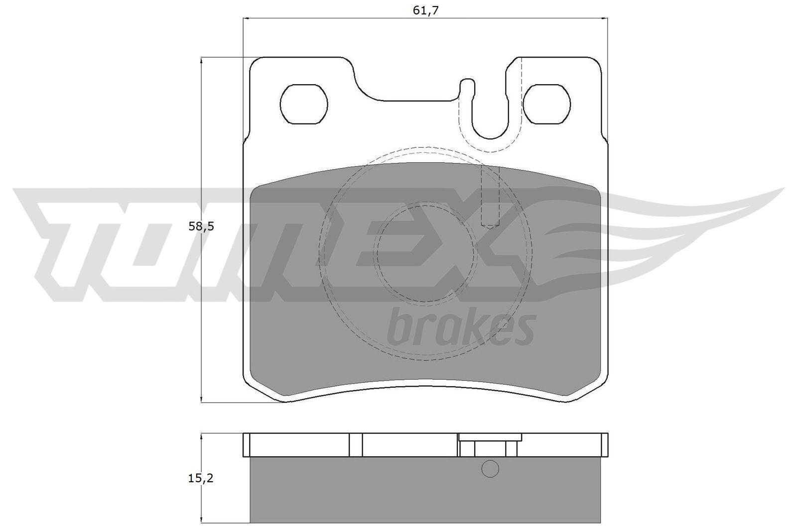 TOMEX brakes Bremsbelagsatz, Scheibenbremse TX 12-33