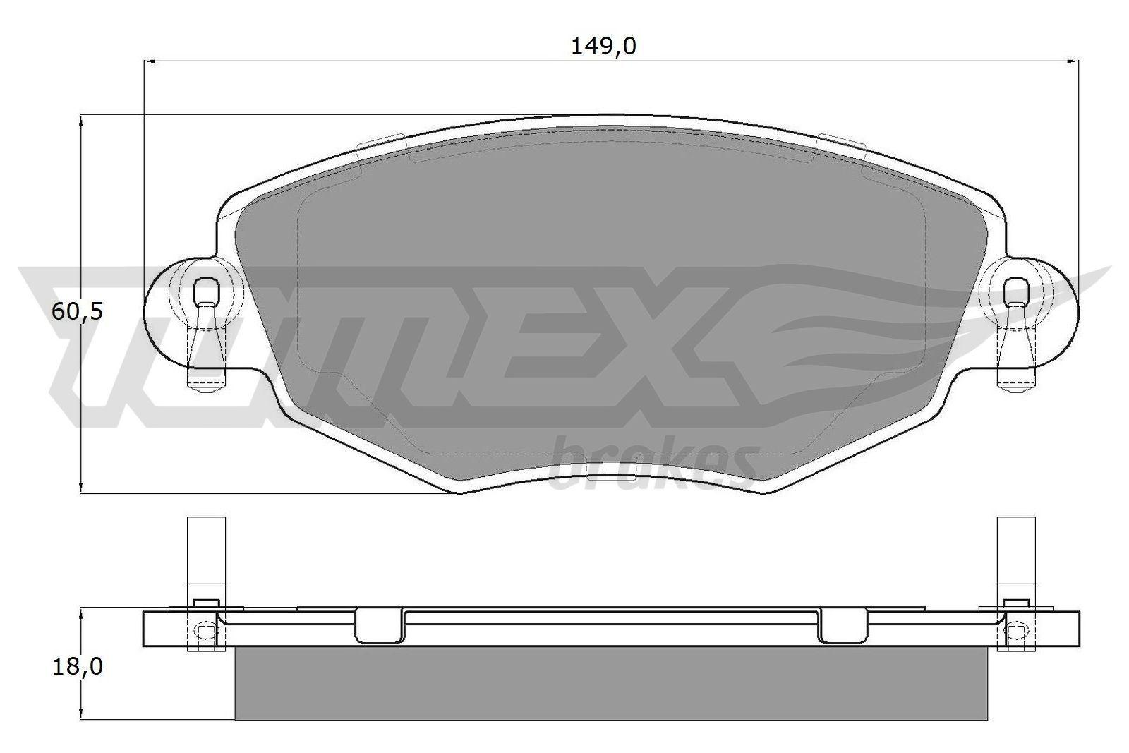 TX 12-58 Bremsbelagsatz TOMEX brakes - Markenprodukte billig