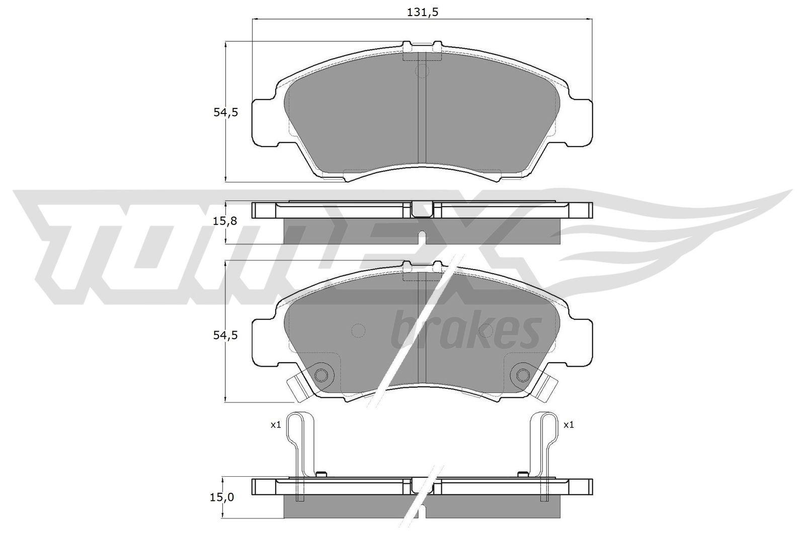 Original HONDA Bremsbelagsatz Scheibenbremse TX 12-65