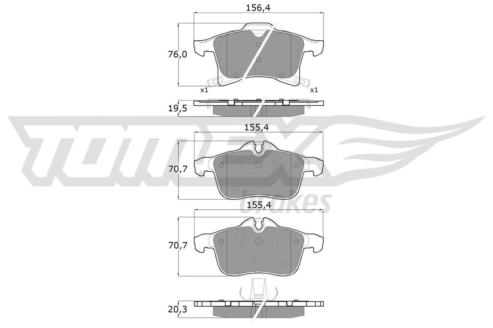 Bremsbeläge TOMEX brakes TX 13-00
