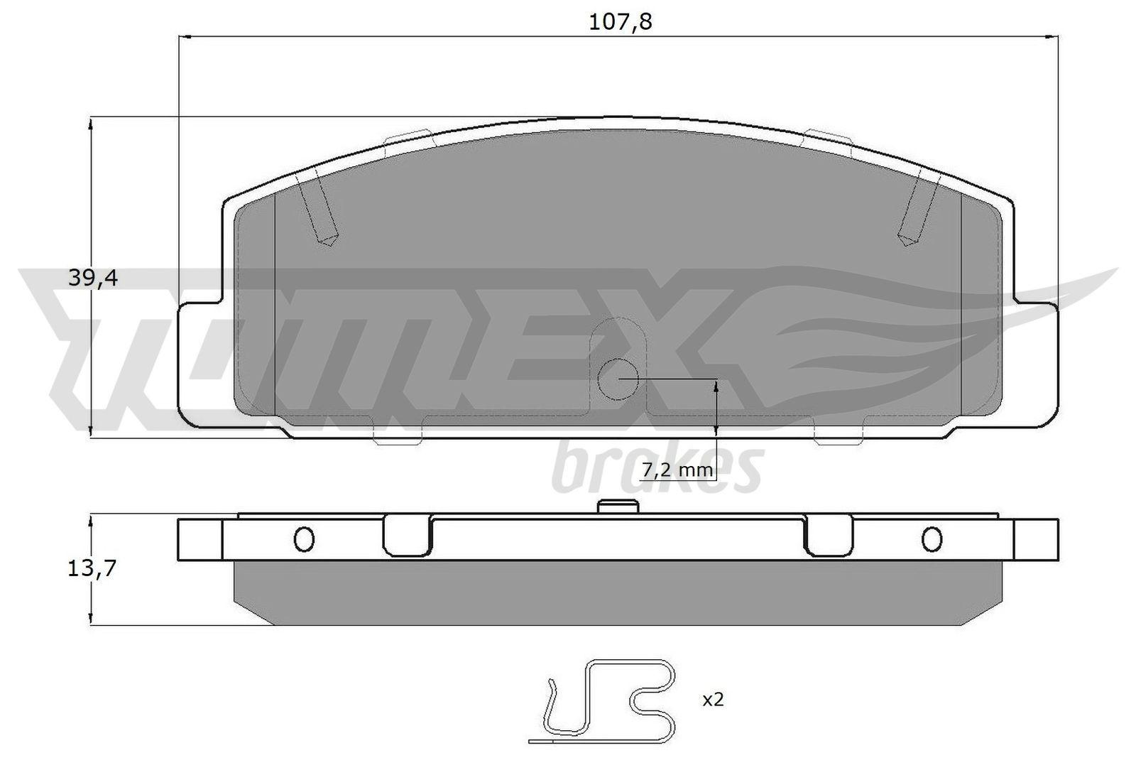 OE Original Bremsklötze TX 13-06 TOMEX brakes