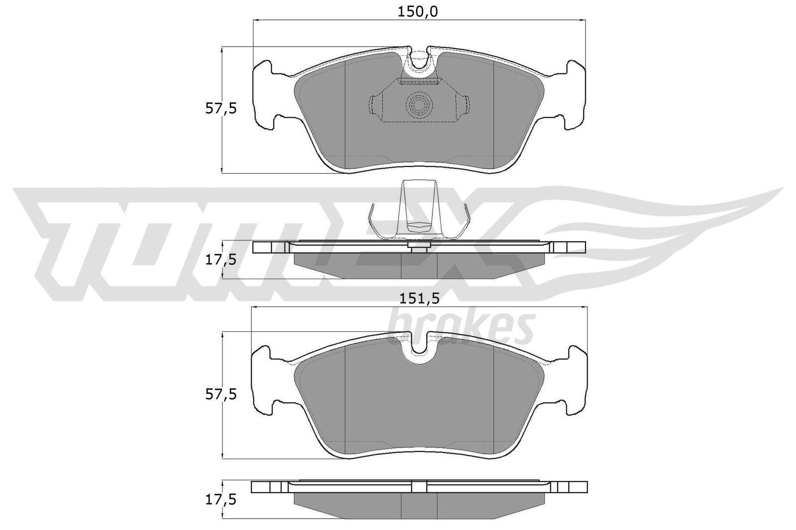 Original BMW Scheibenbremsbeläge TX 13-16