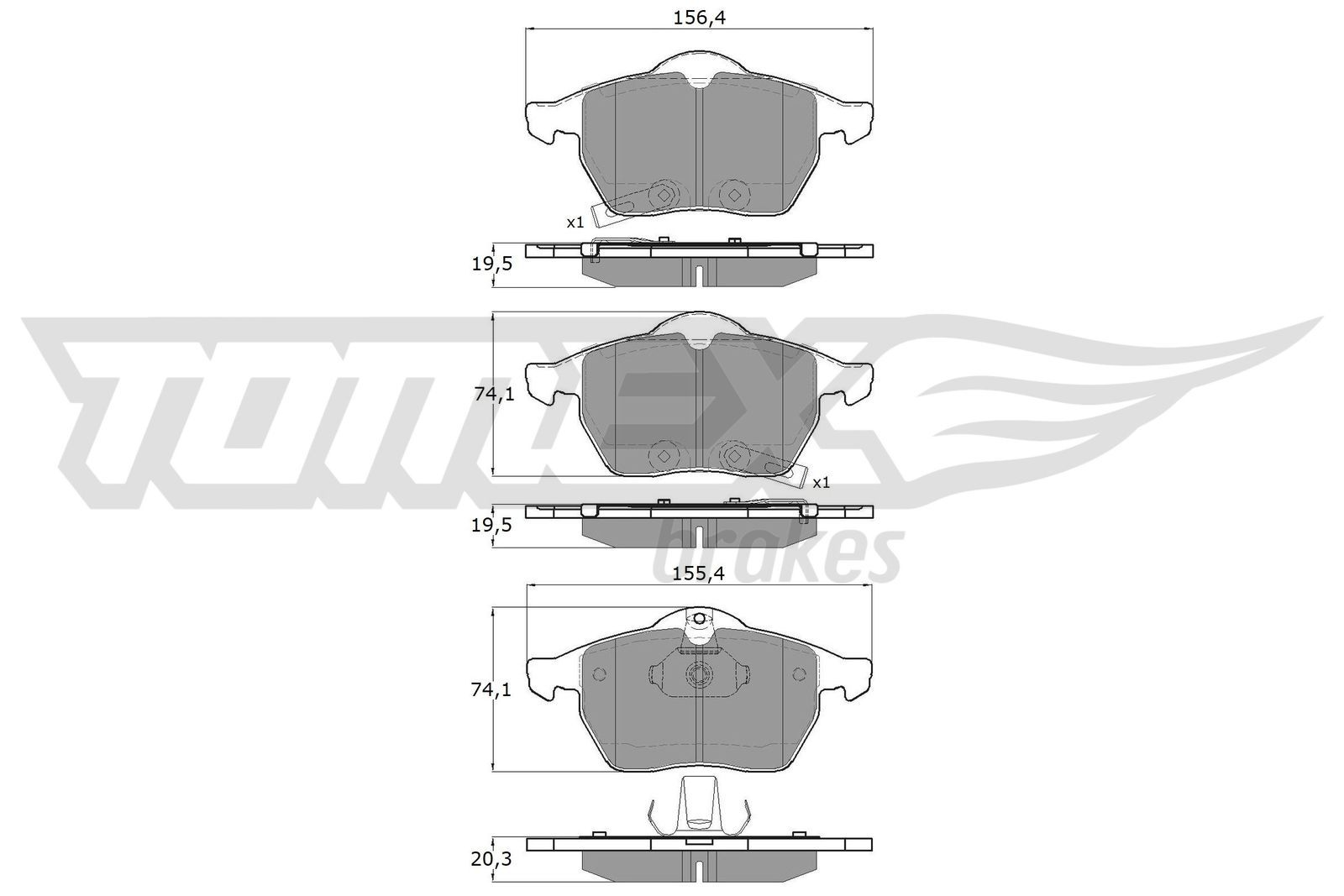 Bremssteine TOMEX brakes TX 13-57
