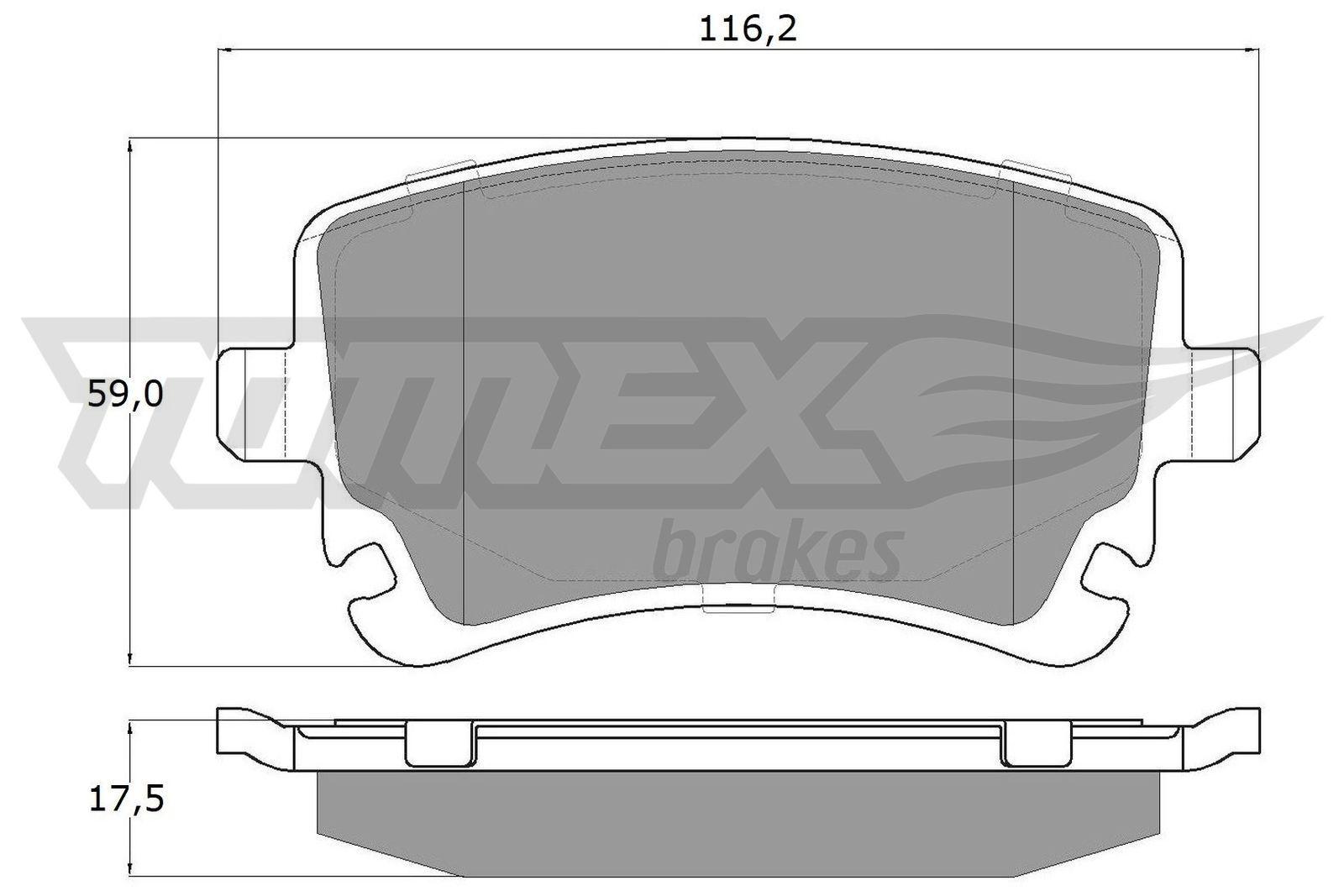 TOMEX brakes Brake Pad Set, disc brake TX 13-961