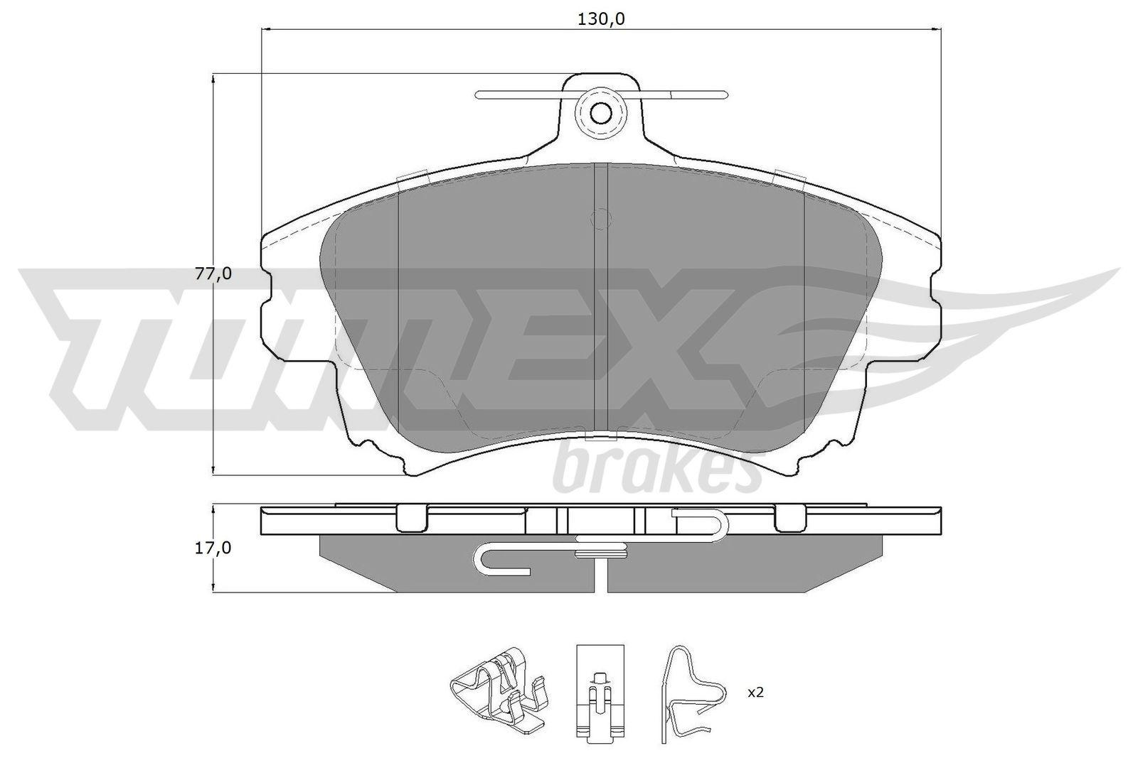 Original SMART Bremsbelagsatz TX 14-03