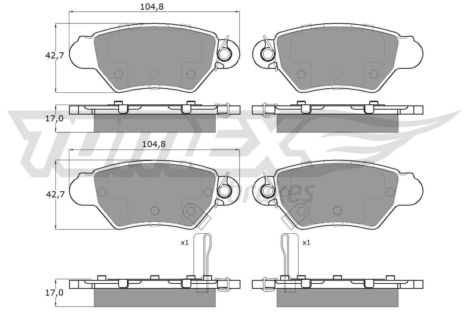 Bremsklötze TOMEX brakes TX 14-12