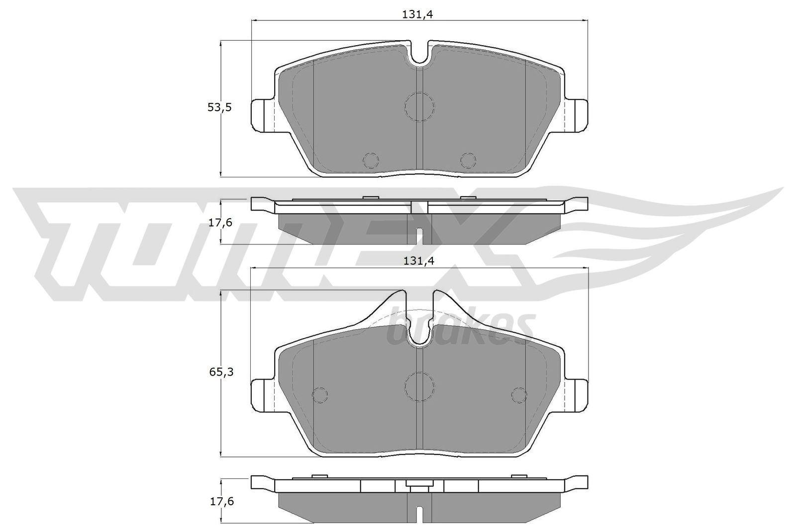 Bremsbelagsatz Scheibenbremse TOMEX brakes TX 14-33