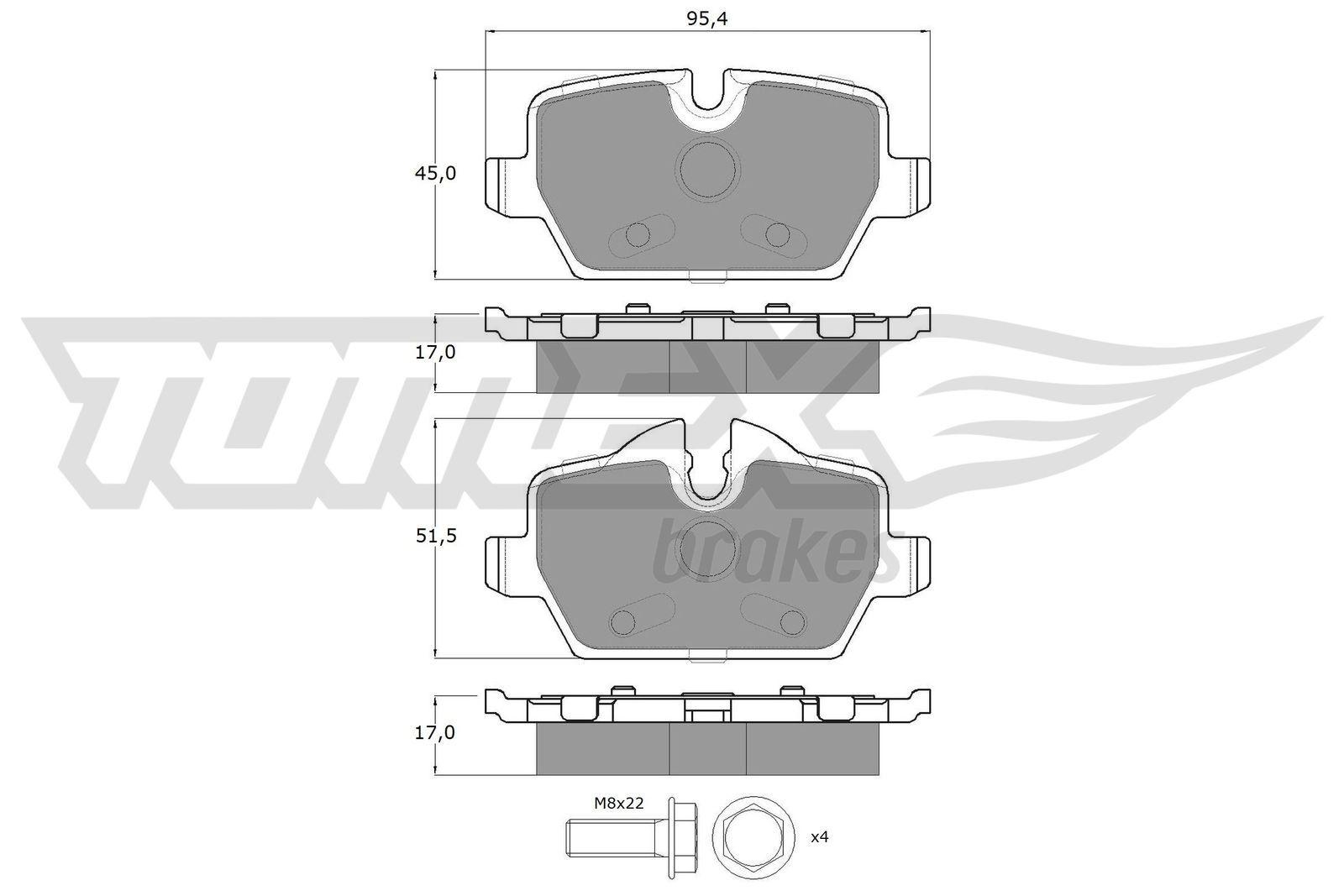 Bremsklötze TOMEX brakes TX 14-34