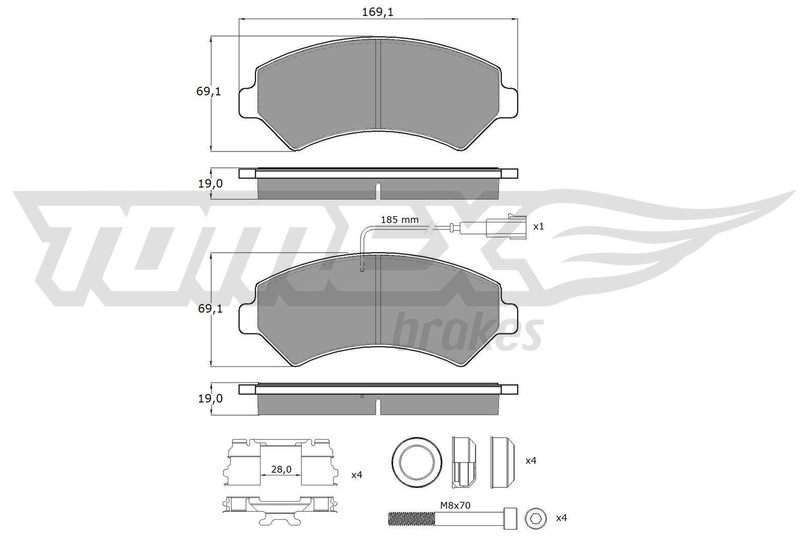 TOMEX brakes Bremsbelagsatz, Scheibenbremse TX 14-40