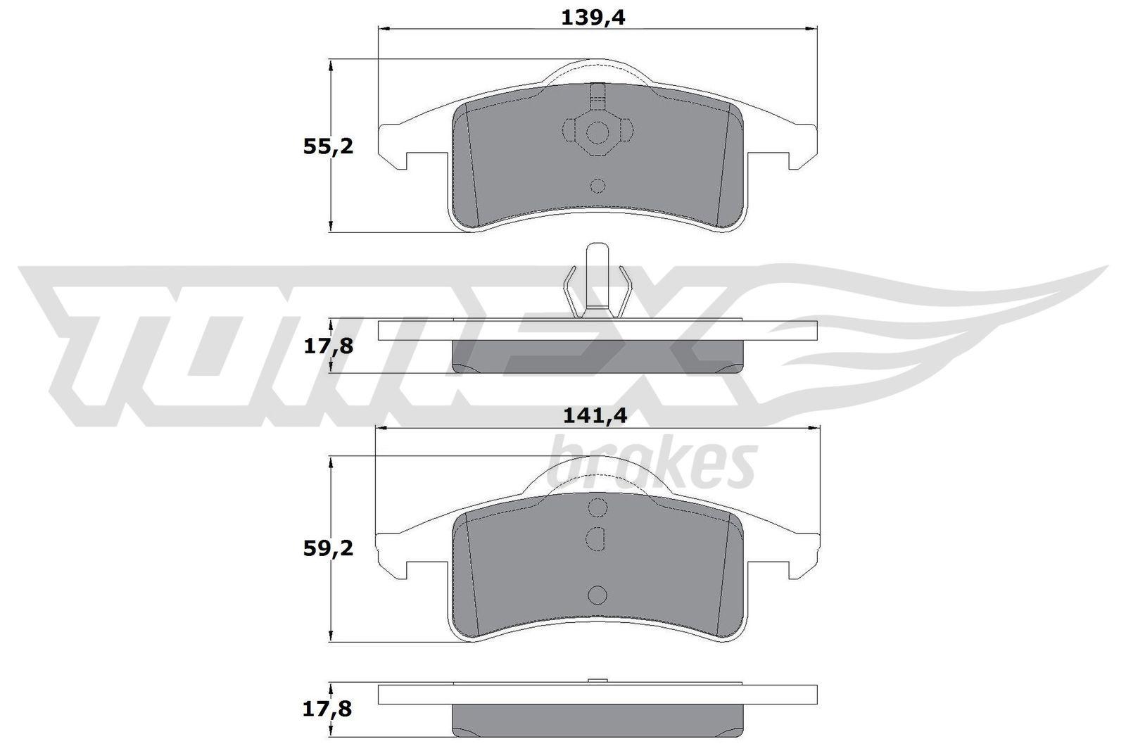 TOMEX brakes Bremsbelagsatz, Scheibenbremse TX 14-90