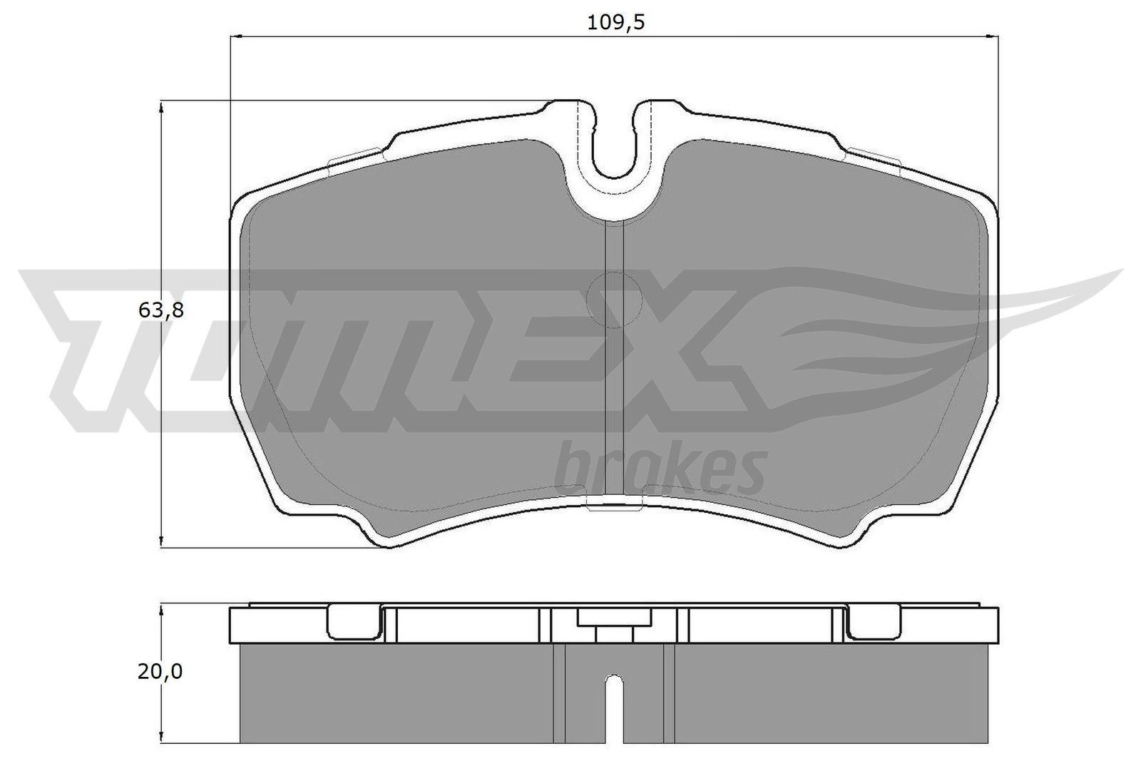Original IVECO Bremsbelagsatz TX 15-11