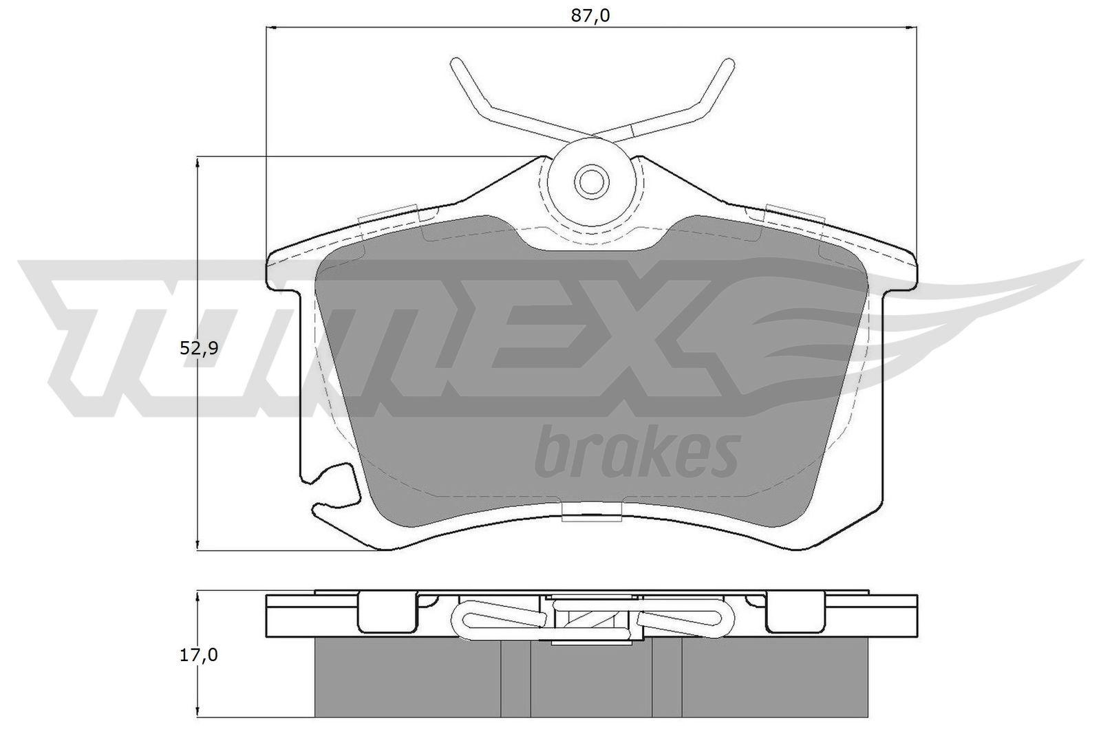 TOMEX brakes Bremsbelagsatz, Scheibenbremse TX 15-22