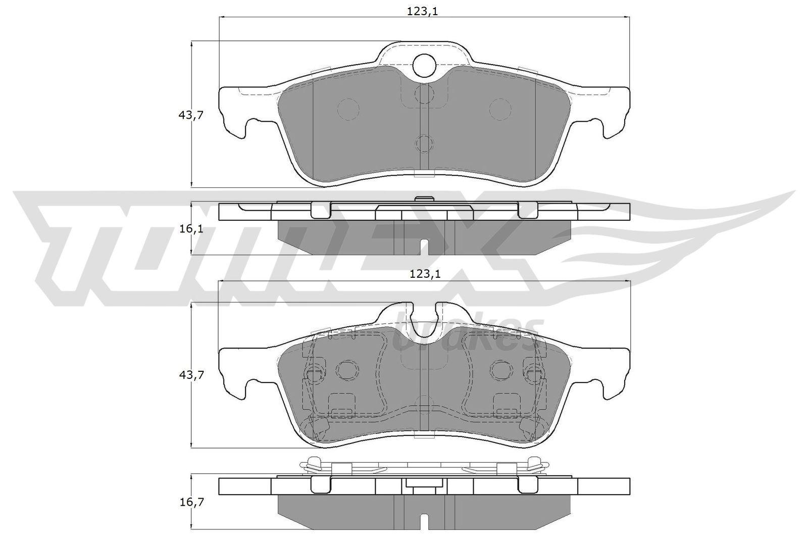 Bremsbelagsatz TOMEX brakes TX 16-03