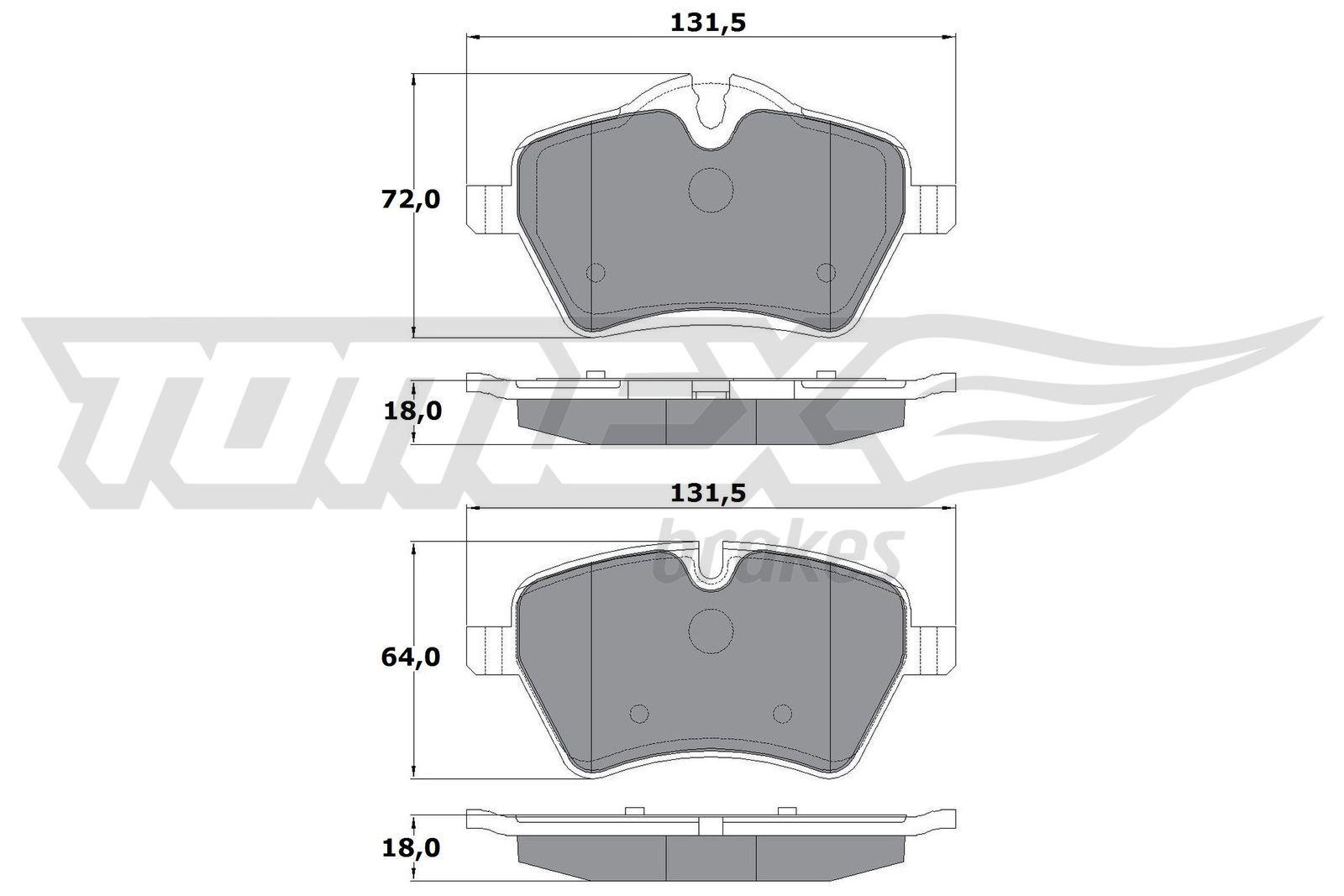 TOMEX brakes Bremsbelagsatz, Scheibenbremse TX 16-04