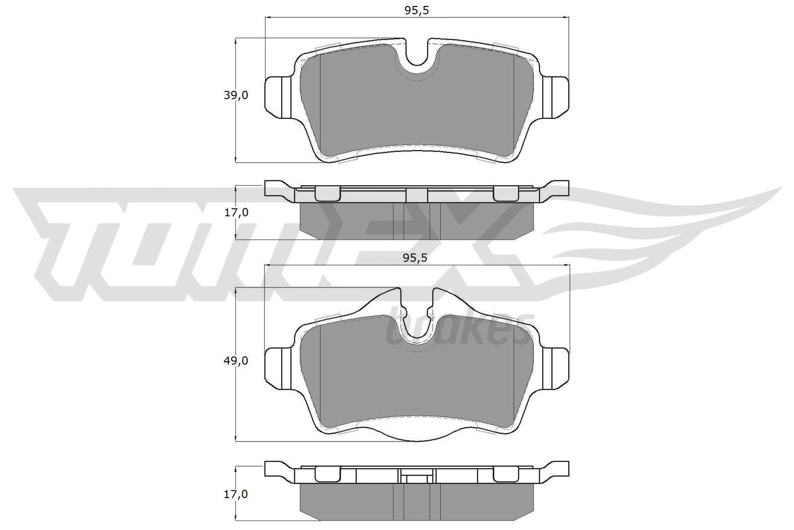 Bremssteine TOMEX brakes TX 16-05