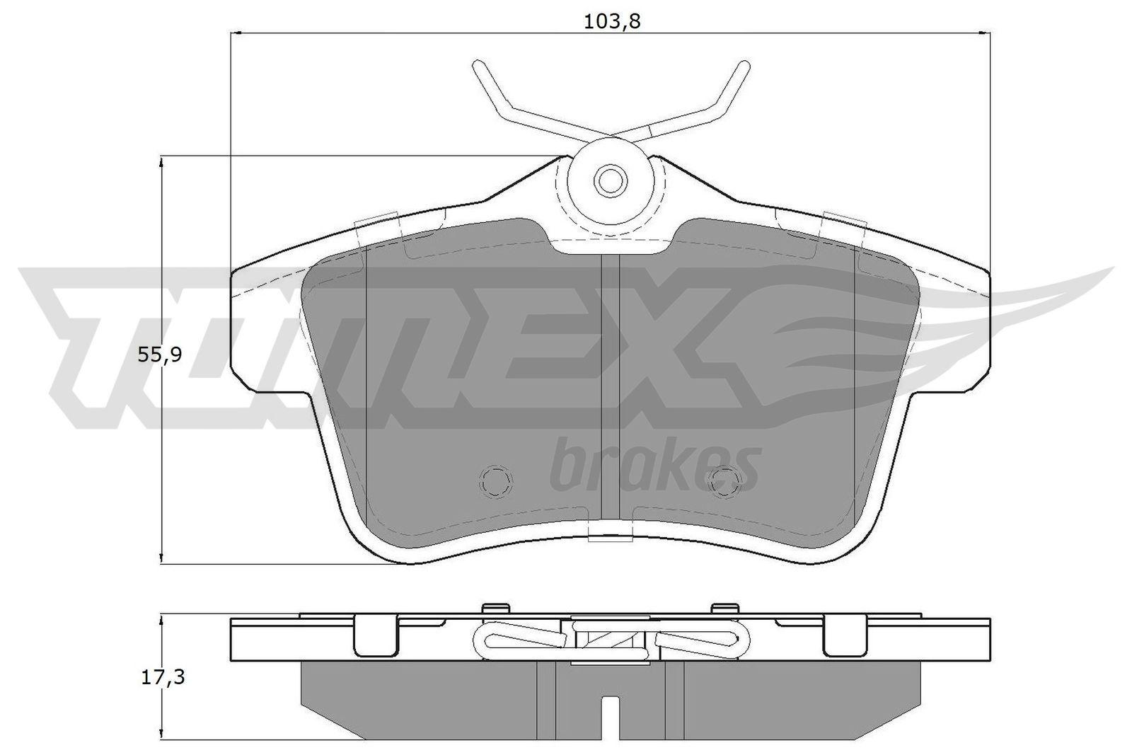 TOMEX brakes Bremsbelagsatz, Scheibenbremse TX 16-60
