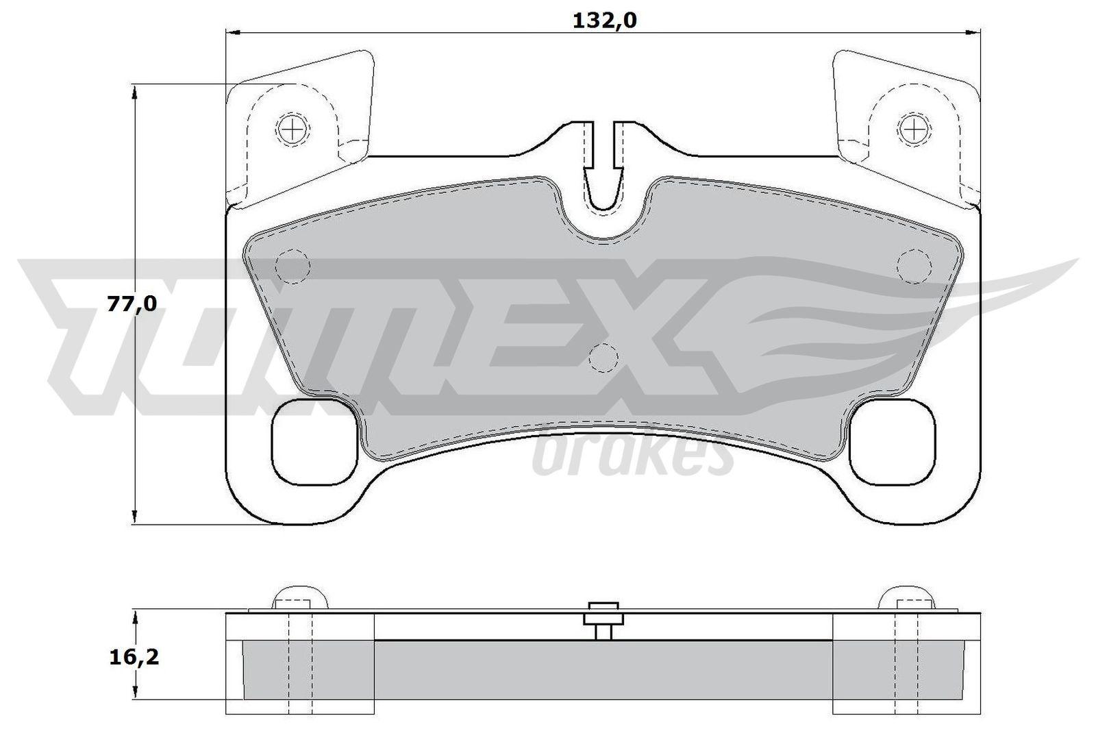 TOMEX brakes Bremsbelagsatz, Scheibenbremse TX 17-15
