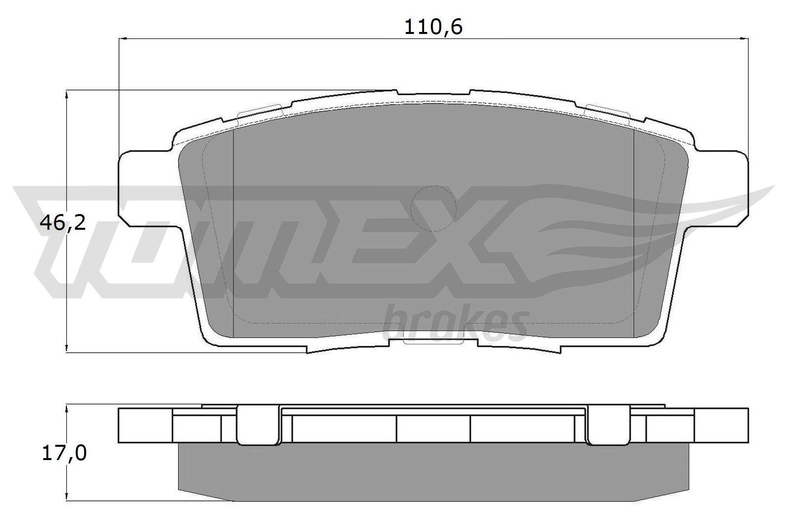 Original FORD USA Bremsbelagsatz Scheibenbremse TX 17-43