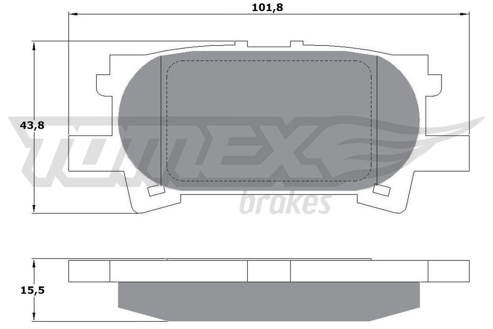 TOMEX brakes Bremsbelagsatz, Scheibenbremse TX 17-64