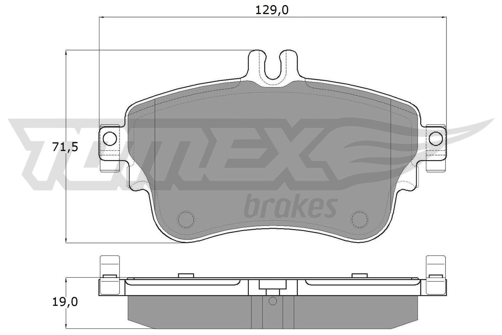 TOMEX brakes Bremsbelagsatz, Scheibenbremse TX 18-07