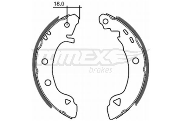 ALFA ROMEO ALFASUD 1985 Bremsbackensatz für Trommelbremse - Original TOMEX brakes TX 20-22 Breite: 39mm