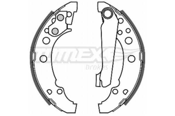 Original SEAT Bremsbackensatz für Trommelbremse TX 20-23