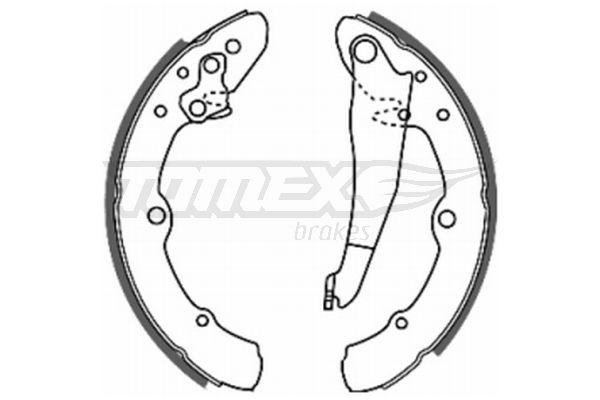 Original SEAT Bremsbeläge für Trommelbremsen TX 20-25
