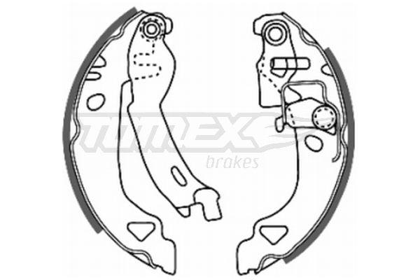 Original FIAT Bremsbacken für Trommelbremse TX 20-28