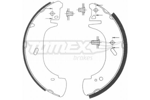 TOMEX brakes Bremsbackensatz TX 20-89