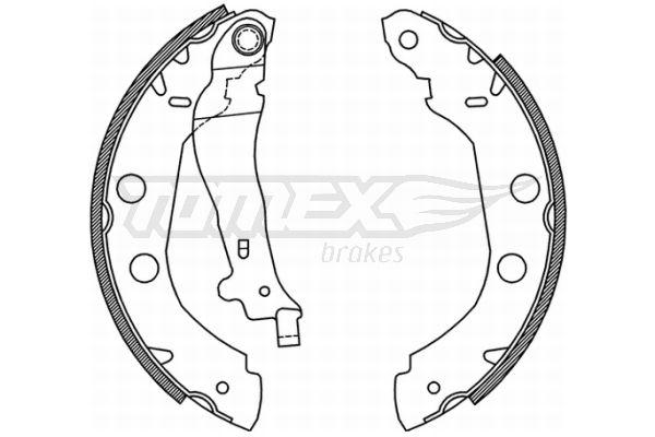 TOMEX brakes Bremsbackensatz TX 21-01