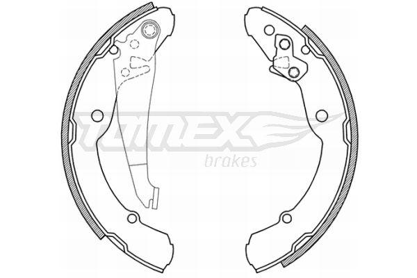 Original SEAT Bremsbacken für Trommelbremse TX 21-04