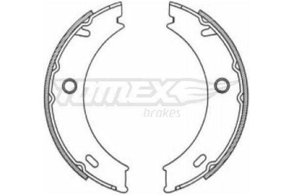 TOMEX brakes Bremsbackensatz, Feststellbremse TX 21-18