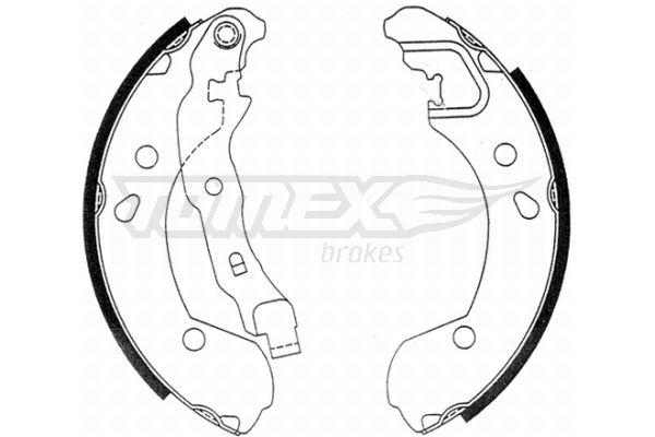 TOMEX brakes Bremsbackensatz TX 21-48