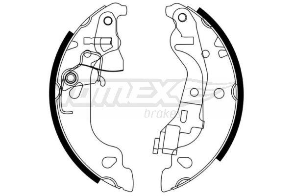 Original FIAT Bremsbackensatz TX 21-58