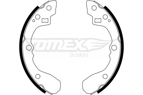KIA SEPHIA 1999 Trommelbremsbacken - Original TOMEX brakes TX 21-63 Breite: 36mm